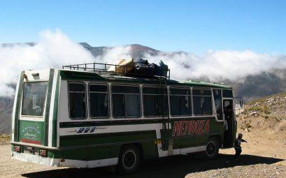 Bus lors de mon séjour en Argentine